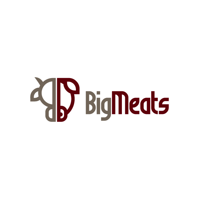 Big Meats Biggenden Logo Design | FMSTUDIOS