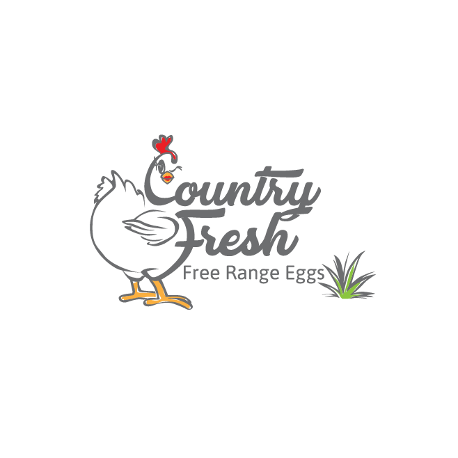 Country Fresh Free Range Eggs Rockhampton Logo Design | FMSTUDIOS