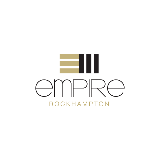 Empire Apartment Hotel Rockhampton Logo Design | FMSTUDIOS