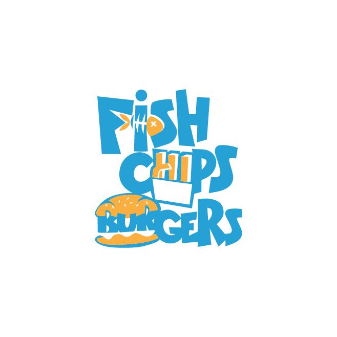 Fish Chips Burgers Parkhurst Business Logo Design | FMSTUDIOS