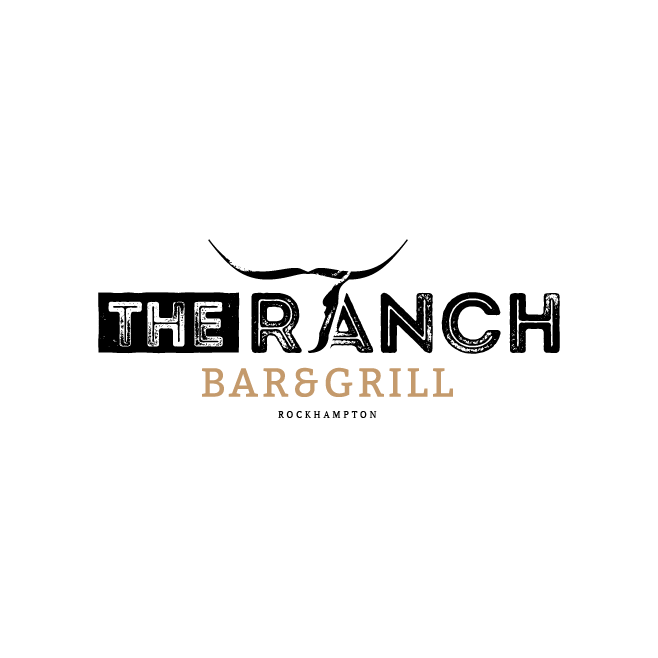 The Ranch Bar & Grill Rockhampton Logo Design | FMSTUDIOS