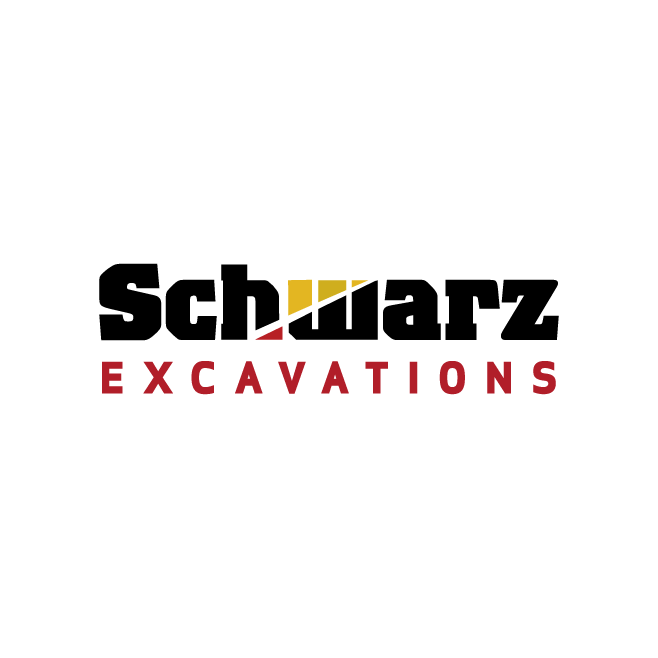 Schwarz Excavations Gracemere Logo Design | FMSTUDIOS