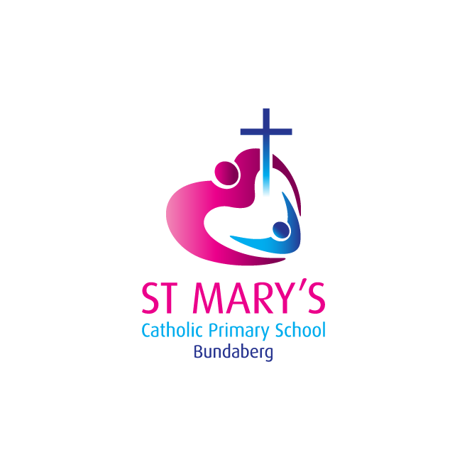 St Mary's Catholic Primary School Bundaberg Logo Design | FMSTUDIOS