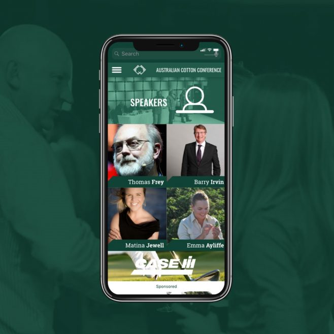 Australian Cotton Conference Gold Coast, Event App UI design Digital and Social Media | FMSTUDIOS