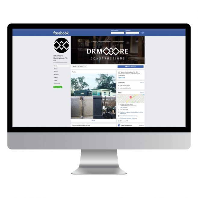 DR Moore Constructions, Facebook, animated header, website design Digital and Social Media | FMSTUDIOS