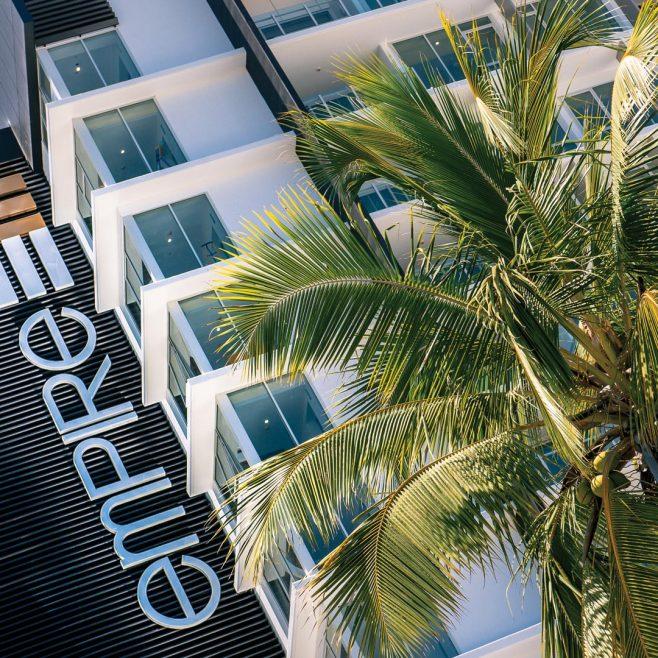 Empire Apartment Hotel Rockhampton, Building signage design Signage Design | FMSTUDIOS