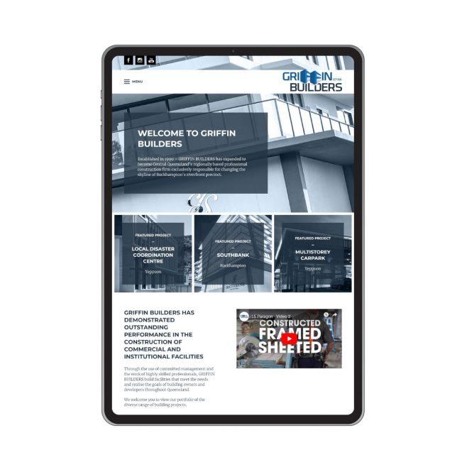 Griffin Builders Rockhampton, web design | FMSTUDIOS