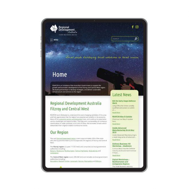 Regional Development Australia Rockhampton, CMS website design  Rockhampton | FMSTUDIOS