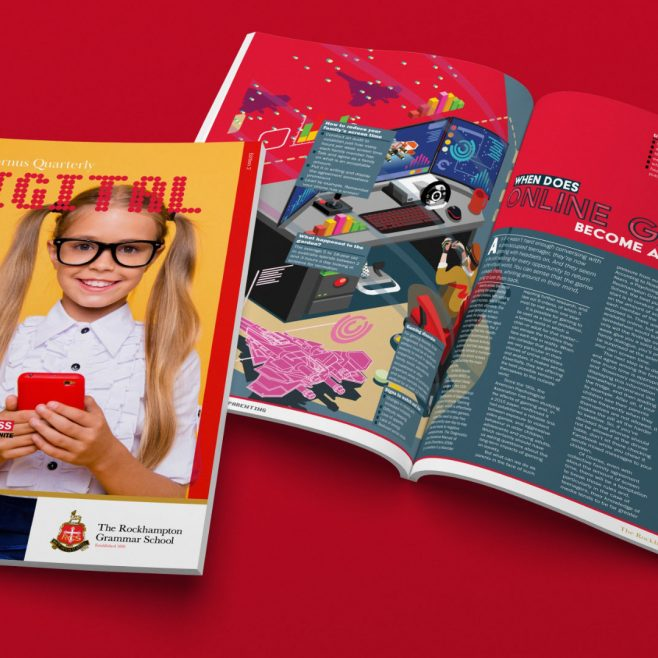Rockhampton Grammar School, Magazine design and layout Print Design | FMSTUDIOS
