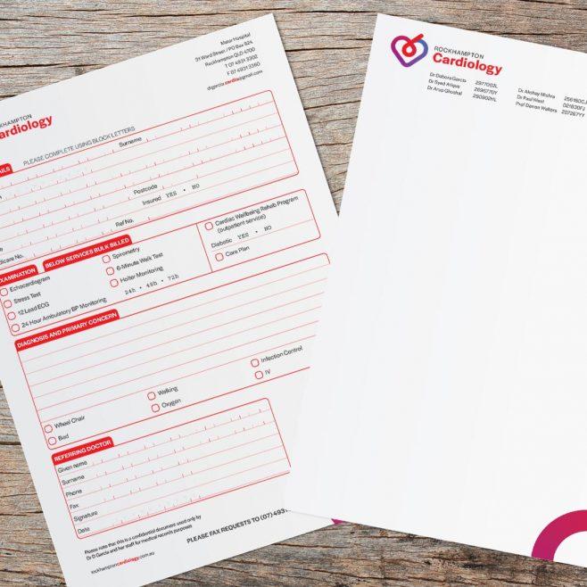 Rockhampton Cardiology, Form and letterhead design Print Design | FMSTUDIOS