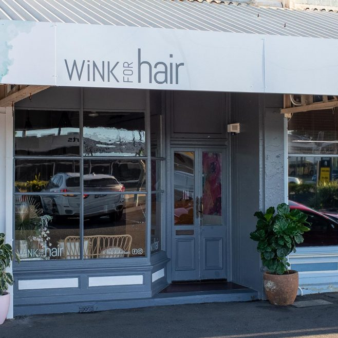 WiNK for Hair Rockhampton, retail signwriting design Signage Design | FMSTUDIOS