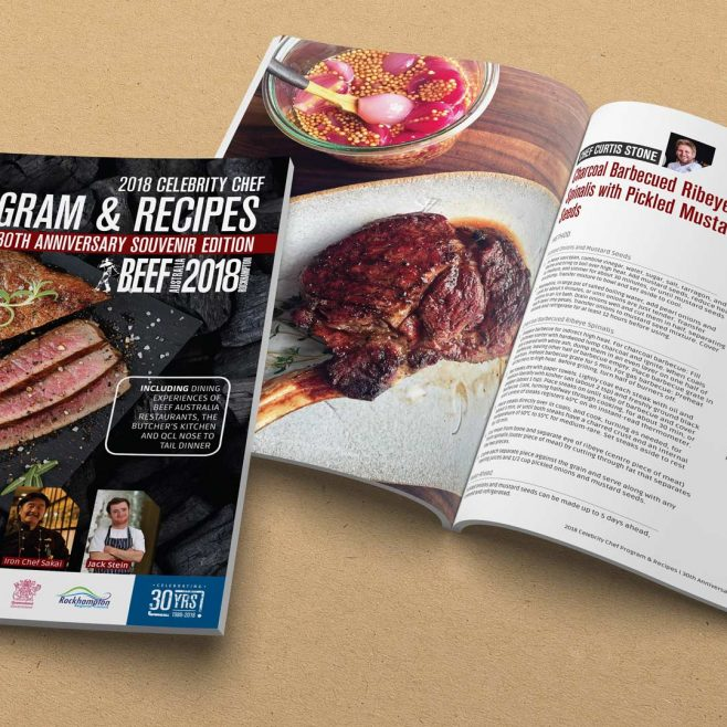 Beef Australia Rockhampton and Australia, Recipe book, graphic design and magazine design | FMSTUDIOS