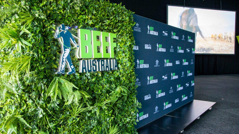 Beef Australia 2021 Media Wall Design