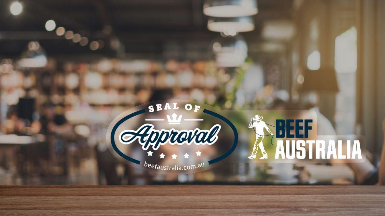 Beef Seal of Approval Window Sticker Design