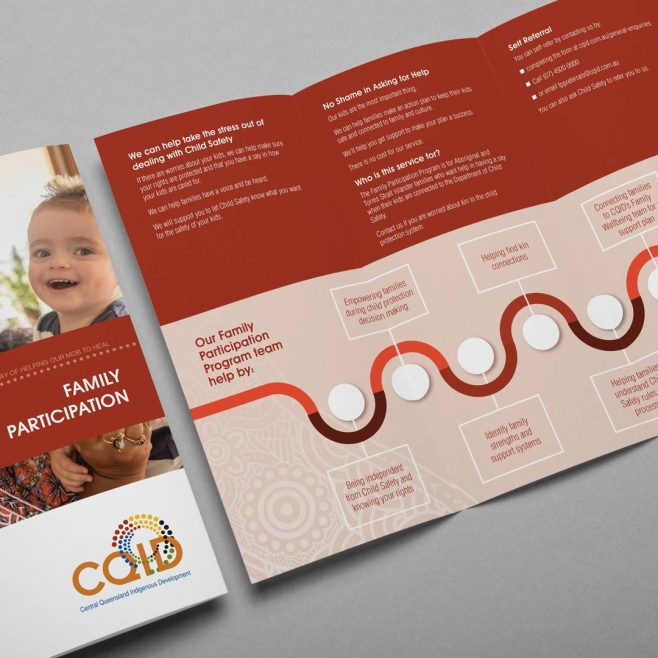 CQID - Central Queensland Indigenous Development, DL brochure design | FMSTUDIOS