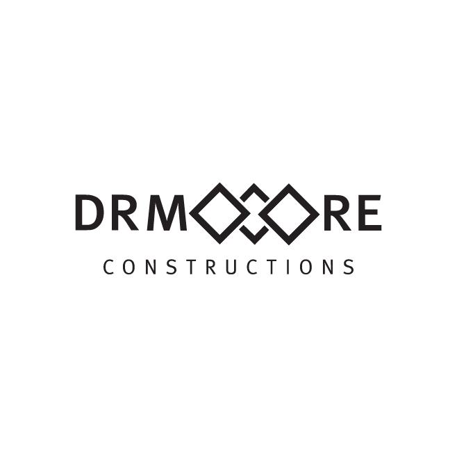 DR Moore Constructions Business Logo Design | FMSTUDIOS