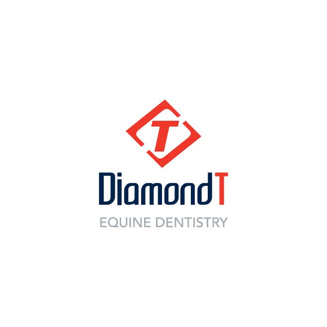Diamond T Equine Dentistry Business Logo Design | FMSTUDIOS