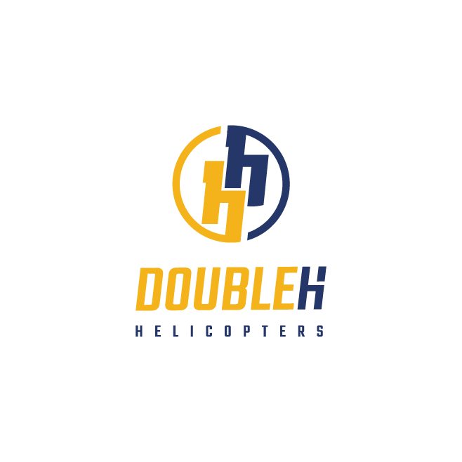 Double H Helicopters Business Logo Design | FMSTUDIOS