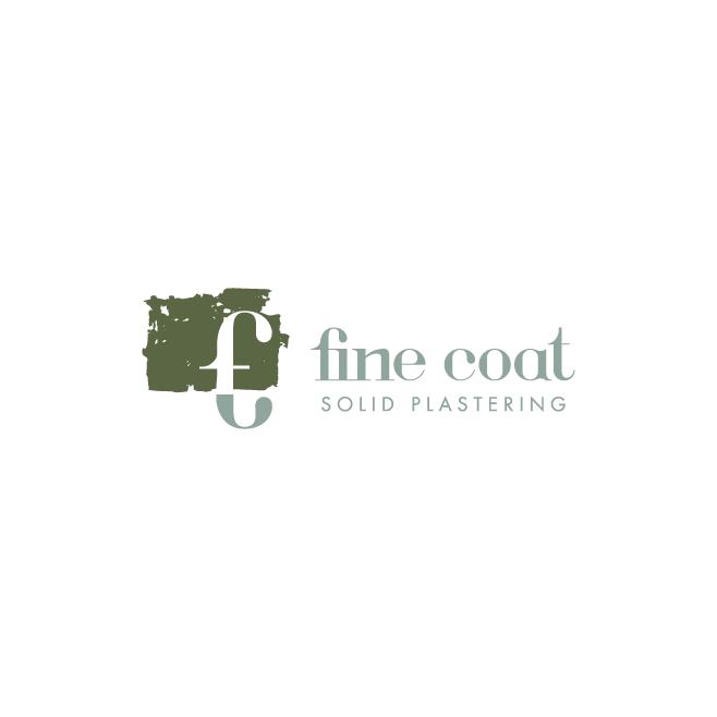 Fine Coat Solid Plastering Business Logo Design | FMSTUDIOS