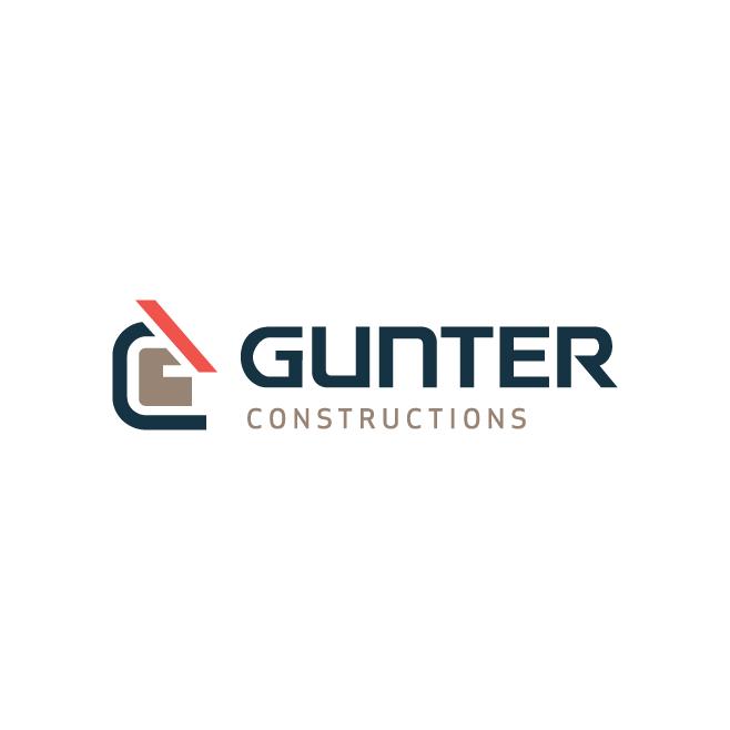 Gunter Constructions Business Logo Design | FMSTUDIOS