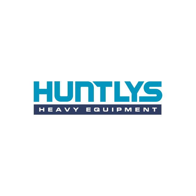 Huntlys Heavy Equipment Logo Design | FMSTUDIOS