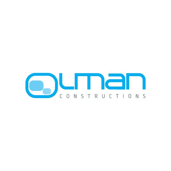 Olman Constructions Business Logo Design | FMSTUDIOS