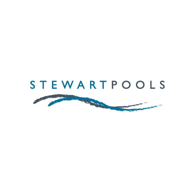 Stewart Pools Logo Design | FMSTUDIOS