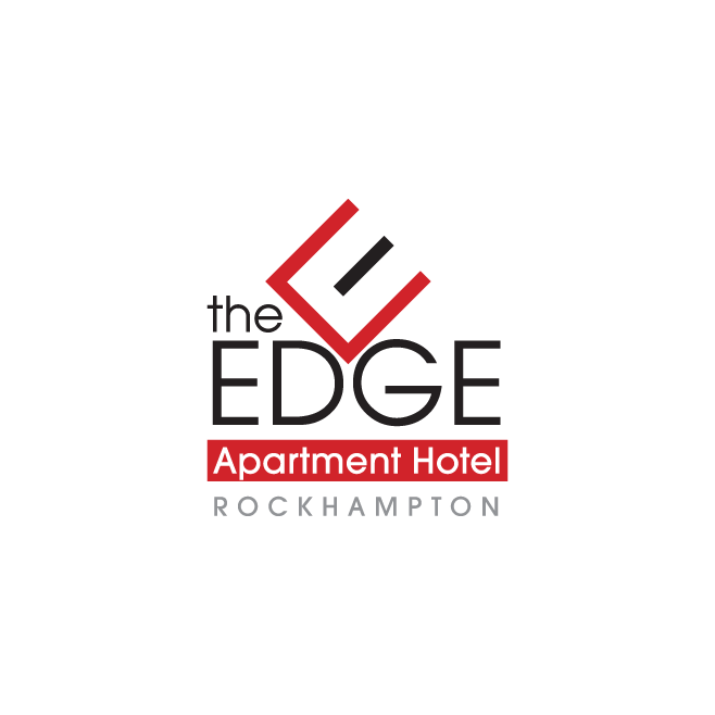 The Edge Apartment Hotel Rockhampton Logo Design | FMSTUDIOS