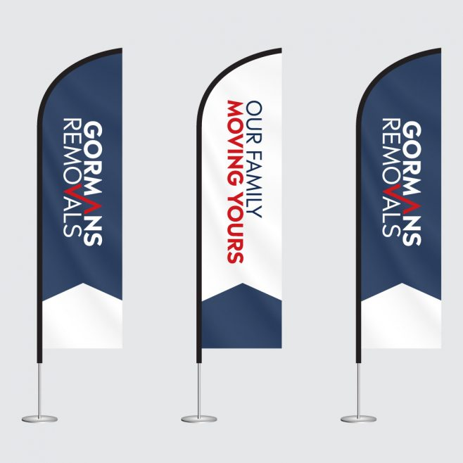 Gormans Removals Rockhampton and Brisbane, banner and flag design Signage Design | FMSTUDIOS