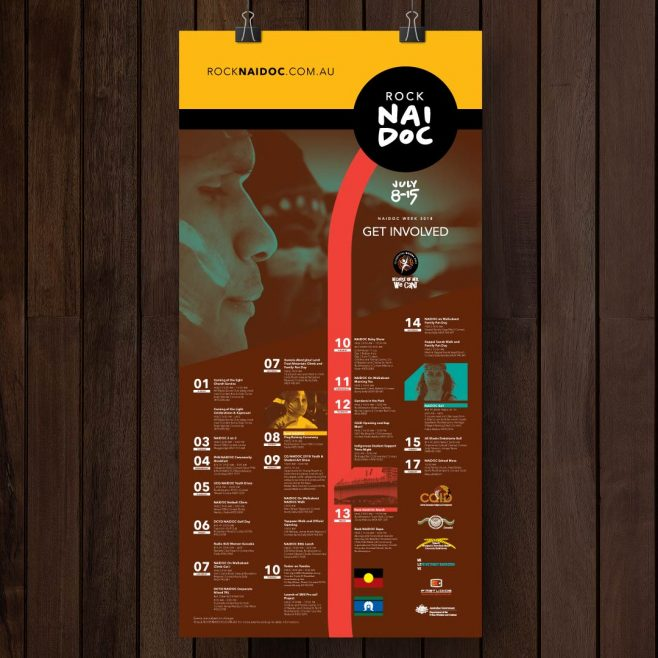 Rock NAIDOC Rockhampton, Poster and calender design Print Design | FMSTUDIOS