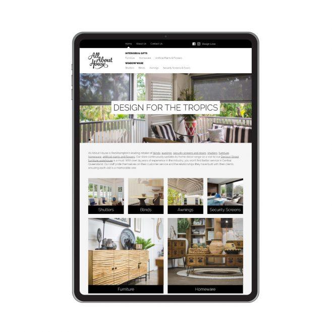 All About House, website design Rockhampton | FMSTUDIOS