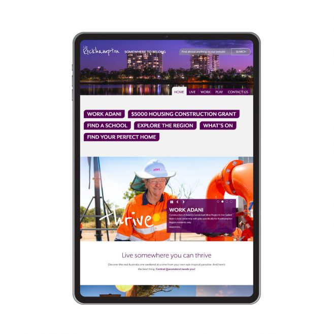 Live Rockhampton, CMS website design Rockhampton | FMSTUDIOS