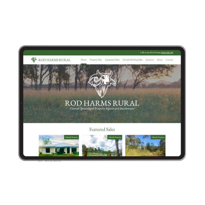 Rod Harms Rural, CMS website design Rockhampton | FMSTUDIOS